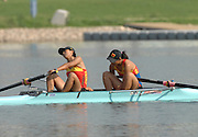 Beijing, CHINA, CHN JW2-, Bow, Yuanyuan HAo and Chaoqun NI, Gold Medallist Women's pair, at  the  2007. FISA Junior World Rowing Championships,  Shunyi Water Sports Complex. 11/08/2007 [Photo, Peter Spurrier/Intersport-images]..... , Rowing Course, Shun Yi Water Complex, Beijing, CHINA,