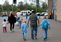 Coventry City fans make their way to the Ricoh Arena ahead of the Sky Bet League One match