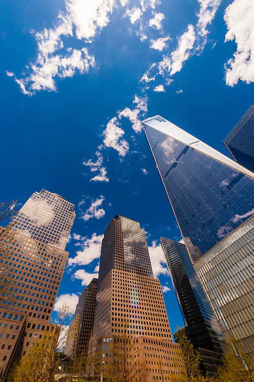 One World Trade Center and World Financial Center, New York, New York USA.