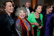 FRANCESCA ANNIS;; MIRIAM MARGOLYES;  CLAIRE BLOOM; ZOE WANNAMAKER, 56th London Evening Standard Theatre Awards. Savoy Hotel. London. 28 November 2010.  -DO NOT ARCHIVE-© Copyright Photograph by Dafydd Jones. 248 Clapham Rd. London SW9 0PZ. Tel 0207 820 0771. www.dafjones.com.