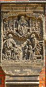 Płaskorzeźby na bazylice św. Elżbiety Węgierskiej, Wrocław, Polska<br /> Reliefs on St. Elizabeth's Church in Wrocław, Poland
