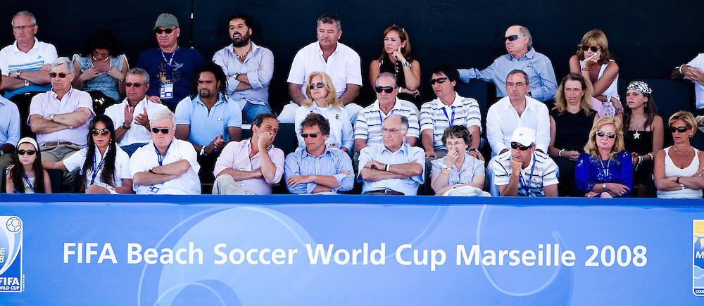 MARSEILLE, FRANCE- JULY 26: Portugal - Spain. Fifa Beach Soccer World Cup Marseiile 2008. (Photo by Manuel Queimadelos)
