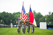 April 29, 2017, 22nd annual Queen's Cup Steeplechase. Color guard