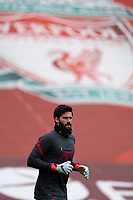 Football - 2020 / 2021 Premier League - Liverpool vs Fulham - Anfield<br /> <br /> Liverpool FC's Alisson Becker during the pre-match warm-up <br /> <br /> CreditCOLORSPORT/TERRY DONNELLY