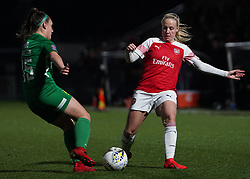 February 20, 2019 - Borehamwood, Hertfordshire, United Kingdom - Beth Mead of Arsenal against Charlotte Buxton of Yeovil .during the FA Women's Super League football match between Arsenal Women and Yeovil Town L.F.C.at Meadow Park on February 20, 2019 in Borehamwood, England. (Credit Image: © Action Foto Sport/NurPhoto via ZUMA Press)