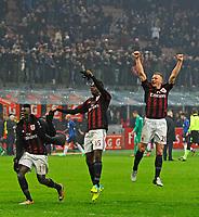 Esultanza M'Baye Niang e Mario Balotelli Milan<br /> Milano 31-01-2016 Stadio Giuseppe Meazza - Football Calcio Serie A Milan - Inter. Foto Giuseppe Celeste / Insidefoto