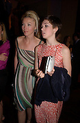 Tamara and Anouskha Beckwith. Hitchcock Blonde Gala dinner at the Royal Court Theatre hosted by Emily Oppenheimer. 23 April 2003.  © Copyright Photograph by Dafydd Jones 66 Stockwell Park Rd. London SW9 0DA Tel 020 7733 0108 www.dafjones.com