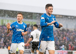Rangers Josh Windass celebrates scoring his side's fifth goal of the game during the William Hill Scottish Cup, fifth round match at Somerset Park, Ayr.