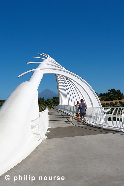 The Whale Bone Bridge, New Plymouth, Taranaki, North Island, New Zealand