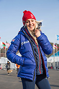Freestyle snowboarder, Aimee Fuller, Great Britain at the Pyeongchang athlete village on February 16th 2018 in Pyeongchang-gun, South Korea.