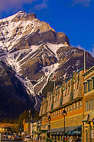 Banff Avenue with Cascade Mountain in background, Banff, Banff National Park, Alberta, Canada