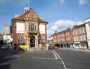 Town Hall and High Street, Marlborough, Wiltshire, England
