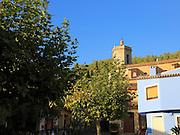 Church and village buildings, Lliber, Marina Alta, Alicante province, Spain