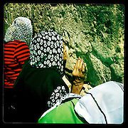 Jerusalem, Israel. September 19th 2011.Women pray at the Western Wall...