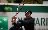 Sloane Stephens of the United States in action against Paula Badosa of Spain during the second round at the Roland Garros 2020, Grand Slam tennis tournament, on October 1, 2020 at Roland Garros stadium in Paris, France - Photo Rob Prange / Spain ProSportsImages / DPPI / ProSportsImages / DPPI