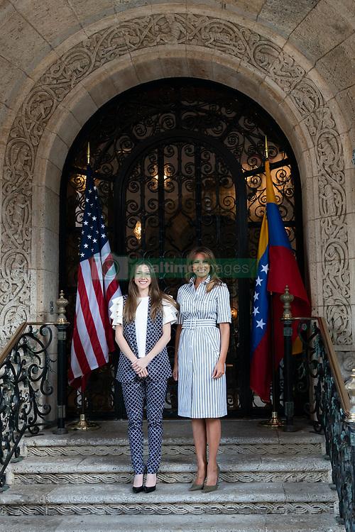 March 28, 2019 - Palm Beach, Florida, U.S. - First Lady Melania Trump with Fabiana Rosales de Guaido, the First Lady of the Bolivarian Republic of Venezuela Thursday, March 28, 2019, at Mar-a-Lago in Palm Beach. (Credit Image: ? White House via ZUMA Wire/ZUMAPRESS.com)