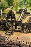 The Baphuon is a temple at Angkor, Cambodia. It is located in Angkor Thom, northwest of the Bayon. Built in the mid-11th century, it is a three-tiered temple mountain built as the state temple of Udayadityavarman II dedicated to the Hindu God Shiva.