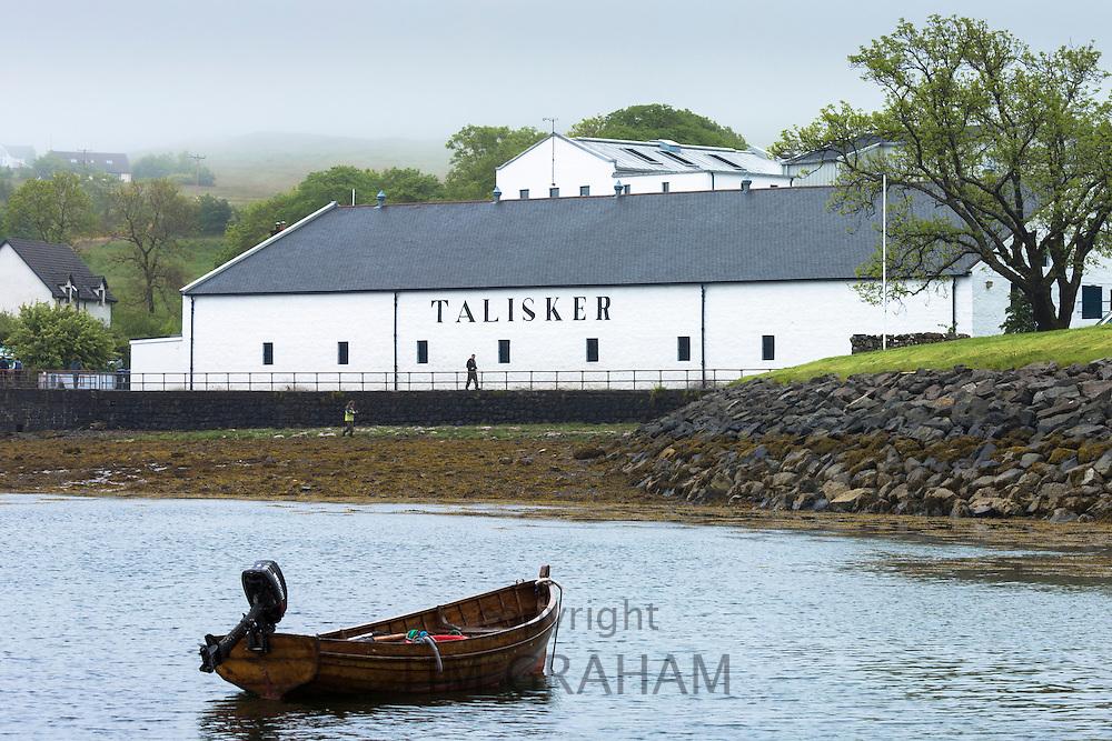 Talisker Single Malt Whisky Distillery in Carbost on Isle of Skye, Scotland