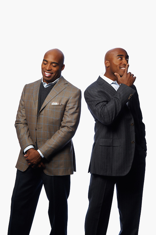 Tiki Barber and Ronde Barber, football players and identical twins
