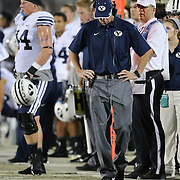 ORLANDO, FL - OCTOBER 09:  BYU head coach Bronco Mendenhall is seen on the sidelines at Bright House Networks Stadium on October 9, 2014 in Orlando, Florida. (Photo by Alex Menendez/Getty Images) *** Local Caption *** Bronco Mendenhall
