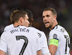 May 2, 2018 - Rome, Italy - Jordan Henderson during the UEFA Champions League semifinal match between AS Roma and FC Liverpool at the Olympic stadium on may 02, 2018 in Rome, Italy. (Credit Image: © Silvia Lore/NurPhoto via ZUMA Press)