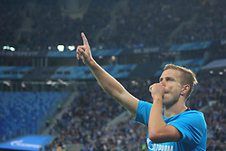 August 24, 2017 - Saint-Petersburg, Russia - Of The Russian Federation. Saint-Petersburg. Zenit-Arena. Arena Saint-Petersburg. The UEFA Europa League. The second leg of the round of the playoffs Zenit - Utrecht. Zenit won with the score 2:0. Player Alexander Kokorin striker. (Credit Image: © Russian Look via ZUMA Wire)