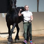 NLD/Houten/20180630 - PaardenpraatTV Fandag 2018, Britt dekker met haar paard Vito
