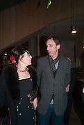 NICKY SHULMAN; WILL SELF, Fashion and Gardens, The Garden Museum, Lambeth Palace Rd. SE!. 6 February 2014.