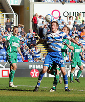 © Andrew Fosker / Richard Lane Photography 2010 -  Gylfi Sigurdsson  brings the ball down and scores his 2nd and reading's 6th as Charlie Lee misses the tackle behind -  Reading v Peterborough - Coca-Cola Championship - 17/04/2010 - Madejski Stadium - Reading - UK.