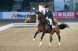 Ulrik Moelgaard, (DEN), Michigan <br /> CDI3* Grand Prix <br /> Royal Windsor Horse Show - Windsor 2015<br /> © Hippo Foto - Jon Stroud