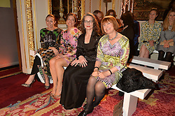 Left to right, CAROLINE RUSH,  MIRIAM CLEGG, DR FRANCES CORNER and DAME TESSA JOWELL at the LDNY Fashion Show and WIE Award Gala sponsored by Maserati held at The Goldsmith's Hall, Foster Lane, City of London on 27th April 2015.