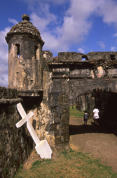World Heritage Site the Fort of Santiago in Portobelo, Panama, Central America.