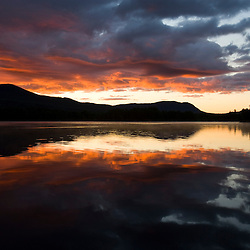 Dawn on Prong Pond, Maine.  Near Moosehead Lake in Maine's Northern Forest.  Owned by Plum Creek