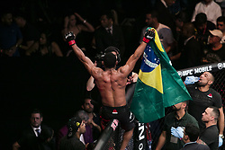 October 29, 2017 - Sao Paulo, Sao Paulo, Brazil - Oct, 2017 - Sao Paulo, Sao Paulo, Brazil - Fight between FRANCISCO TRINALDO (Massaranduba) and JIM MILLER during UFC Fight Night, at the Ibirapuera Gymnasium, in São Paulo, on Saturday (28). MASSARANDUBA (in black) won. (Credit Image: © Marcelo Chello via ZUMA Wire)
