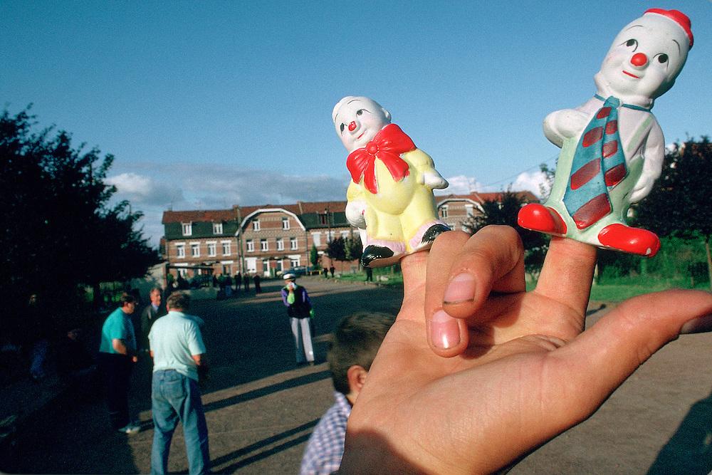 Fête de village en pays minier, France.<br /> Village fair, mining country, Nord-Pas-de-Calais region, France.