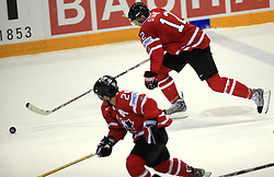 Eric Staal of Canada at ice-hockey game Canada vs Germany in Qualifying Round Group F, at IIHF WC 2008 in Halifax,  on May 10, 2008 in Metro Center, Halifax, Nova Scotia,Canada. Canada won 11:1. (Photo by Vid Ponikvar / Sportal Images)