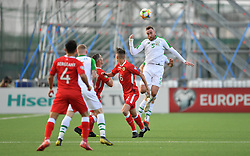 Republic of Ireland's Richard Keogh (right) in action during the UEFA Euro 2020 Qualifying, Group D match at the Victoria Stadium, Gibraltar.