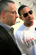 """Matt Alpfel and Chris """"Ludacris"""" Bridges at the 11th Annual Webby Awards  held at Cipriani's Downtown on June 10, 2008"""