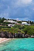 Bermuda beach and houses.