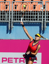 PORTOROZ, SLOVENIA - SEPTEMBER 12:   Ela Nala Milic of Slovenia competes against Irina Fetecau of Romania during the 1st Qualifying Round of WTA 250 Zavarovalnica Sava Portoroz at SRC Marina, on September 12, 2021 in Portoroz / Portorose, Slovenia. Photo by Vid Ponikvar / Sportida