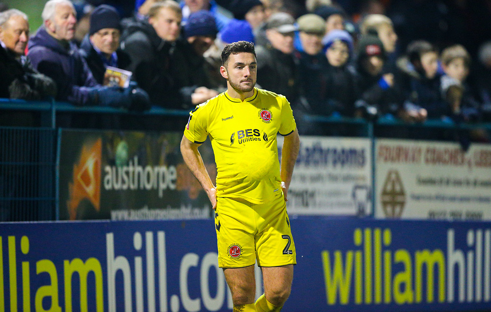 Fleetwood Town's Lewis Coyle<br /> <br /> Photographer Alex Dodd/CameraSport<br /> <br /> The Emirates FA Cup Second Round - Guiseley v Fleetwood Town - Monday 3rd December 2018 - Nethermoor Park - Guiseley<br />  <br /> World Copyright © 2018 CameraSport. All rights reserved. 43 Linden Ave. Countesthorpe. Leicester. England. LE8 5PG - Tel: +44 (0) 116 277 4147 - admin@camerasport.com - www.camerasport.com