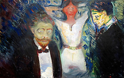 Jealousy by Edvard Munch at Stadel art museum or Stadelsches Kunstinstitut in Frankfurt Germany
