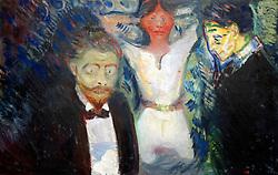 Jealousy by Edvard Munch at Stadel art museum or Stadelsches Kunstinstitut in Frankfurt Germany