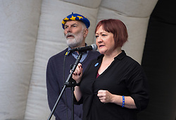 © Licensed to London News Pictures.  14/10/2017; Bristol, UK. KERRY MCCARTHY MP for Bristol East, speaks at a Stop Brexit rally at College Green in Bristol, The South West & Gibraltar Rally. The organisers, Bristol for Europe, say it is the first Rally of its kind, celebrating the South West & Gibralter European Parliament Constituency and the benefits the region enjoys as part of the European Union. Exports to the EU from the South West: Exeter 70%, Plymouth 68% and Bristol 66%. The region benefits from inward investment from the EU. Infrastructure grants are particularly apparent in areas of Cornwall; investment in science and research to universities, and the contribution EU citizens make to the health services across the region. Speakers include:<br /> Mike Galsworthy, Scientists for EU <br /> Rob Davidson, Healthier In The EU <br /> Tom Brufatto, Chair Britain For Europe, <br /> Molly Scott Cato MEP for South West England & Gibraltar,<br /> Clare Moody MEP for South West England & Gibraltar,<br /> Wera Hobhouse MP for Bath, <br /> Thangam Debbonaire MP for Bristol West,<br /> Kerry McCarthy MP for Bristol East, <br /> Darren Jones MP for Bristol North West,<br /> Paul Cartwright, Gibraltar For Europe & Brex-IN,<br /> Dave Evans, Young European Movement Bristol. Picture credit : Simon Chapman/LNP