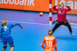 Yara ten Holte of Netherlands, Valentina Tina Klemencic of Slovenia in action during the Women's friendly match between Netherlands and Slovenia at De Maaspoort on march 19, 2021 in Den Bosch, Netherlands (Photo by RHF Agency/Ronald Hoogendoorn)