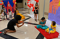Children from the community meeting Disney Princesses and enjoying a sing along with them during the Ravenwood Royal Experience at Ravenwood High School Saturday, March 30, 2019.  The event is a fundraiser for St Jude Children's Hospital and the Ravenwood Theatre Department. Photo Harrison McClary/News & Observer