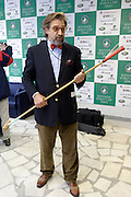 Moscow, Russia, 20/09/2003..The opening day of the Moscow Polo Club, featuring the Russian Polo Cup 2003, the first event of its kind in Russia since the 1917 Bolshevik revolution. Alexander Gafin of Alfabank, sponsors of the tournament..