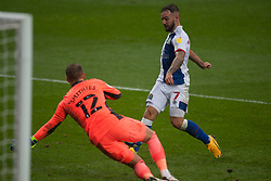 Adam Armstrong of Blackburn Rovers has a shot at goal - Mandatory by-line: Jack Phillips/JMP - 03/10/2020 - FOOTBALL - Ewood Park - Blackburn, England - Blackburn Rovers v Cardiff City - English Football League Championship