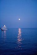 Moonrise Amalfi Coast near Positano