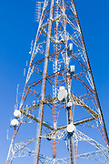 Lattice television broadcast tower and tv antennas at Mt Coot-tha, Brisbane, Queensland, Australia <br />